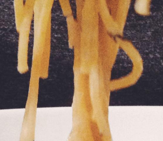 Spaghetti met scampi en dille